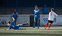 Shire's David Greenhill scores their winning goal.