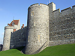 Outside wall of the lower ward of Windsor Castle in the English county of Berkshire.
