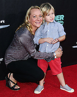 HOLLYWOOD, LOS ANGELES, CA, USA - OCTOBER 06: Nicole Sullivan, Beckett Edward Packham arrives at the World Premiere Of Disney's 'Alexander And The Terrible, Horrible, No Good, Very Bad Day' held at the El Capitan Theatre on October 6, 2014 in Hollywood, Los Angeles, California, United States. (Photo by Xavier Collin/Celebrity Monitor)