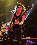 Emma Anzai of the Australian rock band Sick Puppies performs at Rams Head Live in Baltimore Maryland April 12, 2011. .Copyright EML/Rockinexposures.com.