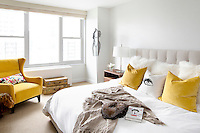 Modern white double bed