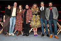 """NEW YORK CITY - OCTOBER 10: Writer Sarah Naftalis, Sam Johnson, Yana Gorskaya, Harvey Guillén, Natasia Demetriou, Paul Simms and Matt Berry attend a 2021 New York Comic Con event for FX's """"What We Do In The Shadows"""" at the Javits Center on October 10, 2021 in New York City.  (Photo by Ben Hider/FX//PictureGroup)"""