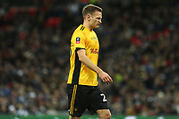 Mickey Demetriou of Newport County during the Fly Emirates FA Cup Fourth Round Replay match between Tottenham Hotspur and Newport County at Wembley Stadium, London, England, UK. 07 February 2018