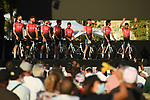 Team Arkea-Samsic on stage at the team presentation before the Tour de France 2020, Nice, France. 27th August 2020.<br /> Picture: ASO/Alex Broadway | Cyclefile<br /> All photos usage must carry mandatory copyright credit (© Cyclefile | ASO/Alex Broadway)