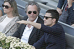 Spanish actors Jose Coronado (l) and Alex Gonzalez during Madrid Open Tennis 2015 Final match.May, 10, 2015.(ALTERPHOTOS/Acero)