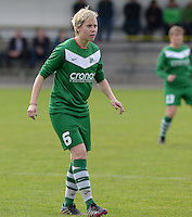 20151024 - ZWEVEZELE , BELGIUM : Nicoletta Aafke Den Ridder pictured during a soccer match between the women teams of SKV Zwevezele Ladies and KSOC Maria Ter Heide  , during the eight matchday in the Third League - Derde Nationale season, Saturday 24 October 2015 . PHOTO DAVID CATRY