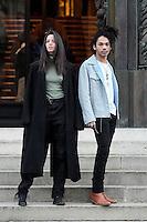 Luka Sabbat et une amie - Show Dior Menswear Fall/Winter 2017-2018 Paris Fashion Week 21 janvier 2017 - FRANCE