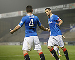 Lee McCulloch scelebrates the fourth goal for Rangers from the penalty spot