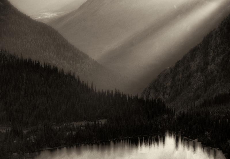 Hidden Lake and Sunset . Glacier National Park, Montana