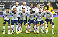 SWANSEA, WALES - NOVEMBER 12: United States men's national team starting eleven before a game between Wales and USMNT at Liberty Stadium on November 12, 2020 in Swansea, Wales.