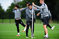 Jefferson Montero of Swansea City (centre) during the Swansea City Training Session at The Fairwood Training Ground, Wales, UK. Tuesday 11th September 2018