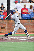 Princeton Rays third baseman Connor Hollis (39) swings at a pitch during a game against the Johnson City Cardinals at TVA Credit Union Ballpark on August 9, 2018 in Johnson City, Tennessee. The Rays defeated the Cardinals 10-2. (Tony Farlow/Four Seam Images)