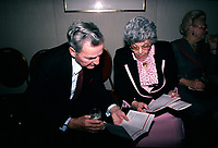 April 1988 File Photo - Paul Desmarais (L) and Saydie Bronfman (R)<br /> <br /> Desmarais passed away October 2013<br /> <br /> PHOTO :  Agence Quebec Presse