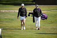 STANFORD, CA - APRIL 23: Courtney Jones Roberts, Bamille Boyd at Stanford Golf Course on April 23, 2021 in Stanford, California.