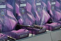 Illustration picture of the Covid protection on the substitute bench of Anderlecht pictured during a female soccer game between RSC Anderlecht Dames and White Star Woluwe on the 18 th and last matchday before the play offs of the 2020 - 2021 season of Belgian Womens Super League , saturday 27 th of March 2021  in Brussels , Belgium . PHOTO SPORTPIX.BE | SPP | DIRK VUYLSTEKE