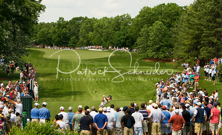 Golfer Sean O'Hair tees off on number 9 during the Quail Hollow Championship golf tournament 2009. The event, formerly called the Wachovia Championship, is a top event on the PGA Tour, attracting such popular golf icons as Tiger Woods, Vijay Singh and Bubba Watson. Photo from the final round in the Quail Hollow Championship golf tournament at the Quail Hollow Club in Charlotte, N.C., Sunday , May 03, 2009..