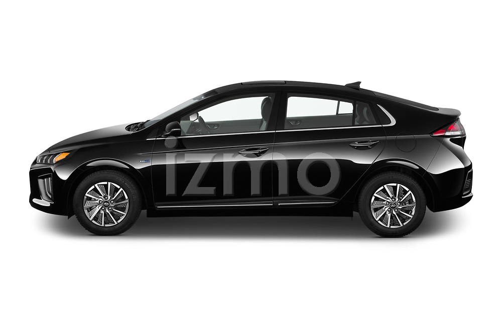 Car Driver side profile view of a 2020 Hyundai Ioniq-Electric Limited 5 Door Hatchback Side View