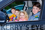 Joshua, Isabel, Dylan and Max McCarthy enjoying the drive in cinema in the INEC car park on Friday night
