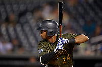 Tampa Tarpons Isiah Gilliam (24) at bat during a Florida State League game against the Daytona Tortugas on May 18, 2019 at George M. Steinbrenner Field in Tampa, Florida.  Daytona defeated Tampa 7-6.  (Mike Janes/Four Seam Images)
