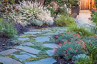 Stepping Stone pathway in Lundstrom Garden, design by Susan Morrison