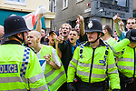 © Joel Goodman - 07973 332324 - all rights reserved . 30/08/2010 . Brighton , UK . Nationalist group , March for England , hold a march in Brighton , opposed by antifascists . Photo credit : Joel Goodman