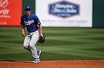 Cody Seager plays in a spring training game between the Texas Rangers and Los Angeles Dodgers in Surprise, Ariz., on Sunday, March 7, 2021.<br /> Photo by Cathleen Allison