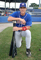 September 3, 2003:  NY-Penn League Triple Crown Winner Vito Chiaravaloti (31) of the Auburn Doubledays, Class-A affiliate of the Toronto Blue Jays, during a game at Dwyer Stadium in Batavia, NY.  Photo by:  Mike Janes/Four Seam Images