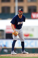 Toledo Mudhens starting pitcher Daniel Norris (43) during a game against the Rochester Red Wings on June 12, 2016 at Frontier Field in Rochester, New York.  Rochester defeated Toledo 9-7.  (Mike Janes/Four Seam Images)