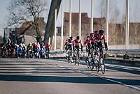 Team Lotto-Soudal puts the hammer down in the chase of solo leader Jasper Stuyven.<br /> <br /> 70th Kuurne-Brussel-Kuurne 2018<br /> Kuurne › Kuurne: 200km (BELGIUM)