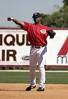 March 31, 2004:  D'Angelo Jimenez of the Cincinnati Reds organization during Spring Training at Ed Smith Stadium in Sarasota, FL.  Photo copyright Mike Janes/Four Seam Images