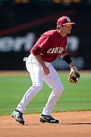 South Carolina shortstop Reese Havens (6) on defense versus LSU at Sarge Frye Stadium in Columbia, SC, Thursday, March 18, 2007.
