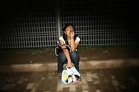 CHINA. Beijing. A woman using a cellphone. 2008