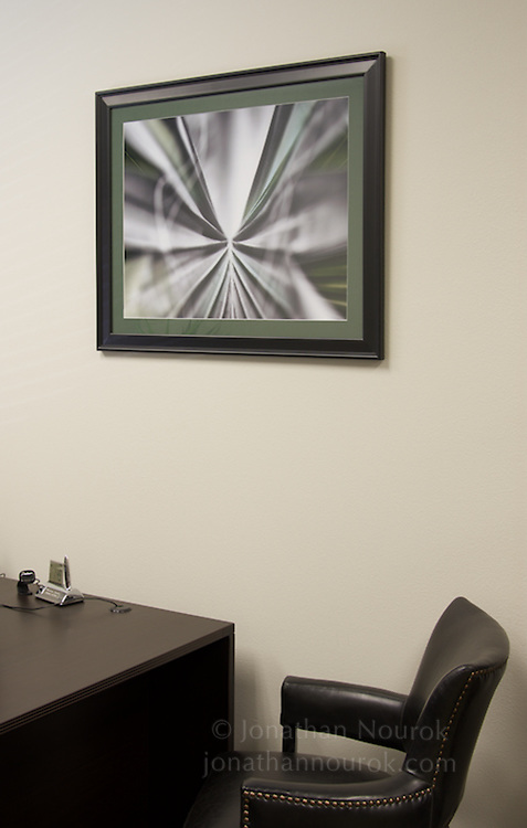 Framed photographic print in an attorney's office in Riverside, California.