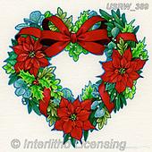Randy, CHRISTMAS SYMBOLS, WEIHNACHTEN SYMBOLE, NAVIDAD SÍMBOLOS,wreath, paintings+++++,USRW389,#xx#