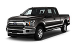 2018 Ford F-150 XLT SuperCab 6-1/2 Box 2 Door Pick Up angular front stock photos of front three quarter view