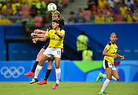Manaus, Brazil - Tuesday, August 9, 2016: The USWNT go up 2-1 over Colombia in second half action in Group G play during the 2016 Olympics at Amazonia Arena.