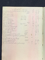 BNPS.co.uk (01202 558833)<br /> Pic: HAldridge/BNPS<br />  <br /> William Harrison's book of accounts valued at £1500<br /> <br /> Remarkable water-stained documents recovered from the body of the assistant to the most controversial person on the Titanic have been discovered 107 years later.<br /> <br /> The personal archive of valet William Harrison also includes a four page letter he wrote home to his wife moaning about his working conditions under Bruce Ismay.<br /> <br /> The managing director of Titanic's owners White Star Line was portrayed as a coward in James Cameron's epic movie when he snuck into a lifeboat rather than going down with the ship.<br /> <br /> Mr Harrison told her how he was 'fed up' with spending hours writing letters to post for Ismay.