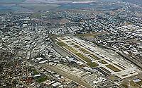 aerial photograph Mineta San Jose airport, Santa Clara county, California