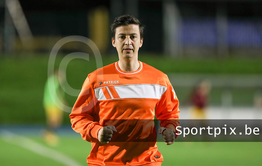 Assistant referee Hicham Khlifa pictured during the warm up before a female soccer game between FC Femina WS Woluwe and Standard Femina de Liege on the fourth match day of the 2020 - 2021 season of Belgian Womens Super League , Friday 8th of October 2020  in Liege , Belgium . PHOTO SPORTPIX.BE | SPP | SEVIL OKTEM
