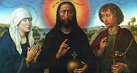 Paintings:  Van der Weyden (1399-1464)--Triptyque de la famille Braque.  Early Flemish artist.  Louvre, Paris.  Reference only.