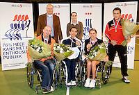 4-1-09, Renkum, NK rolstoeltennis, Esther Vergeer  Korie Homan    Maikel Scheffers  Tom Egberink,