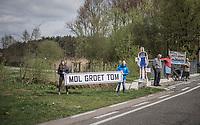 roadside fans cheering for Tom Boonen in his very last race on Belgian soil<br /> <br /> 105th Scheldeprijs 2017 (1.HC)<br /> 1 Day Race: Mol › Schoten (BEL/202km)