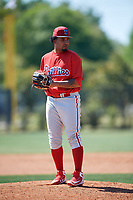 Philadelphia Phillies pitcher Ismael Cabrera (74) during a Minor League Spring Training game against the Pittsburgh Pirates on March 23, 2018 at the Carpenter Complex in Clearwater, Florida.  (Mike Janes/Four Seam Images)