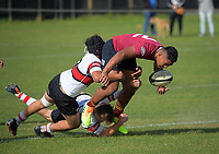 Action from the 1st XV rugby match between Scots College and King's College at Scots College in Wellington, New Zealand on Saturday, 8 May 2021. Photo: Dave Lintott / lintottphoto.co.nz