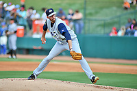 Southern Divisions starting pitcher Joe Cavallaro (23) of the Columbia Fireflies delivers a pitch during the South Atlantic League All Star Game at First National Bank Field on June 19, 2018 in Greensboro, North Carolina. The game Southern Division defeated the Northern Division 9-5. (Tony Farlow/Four Seam Images)