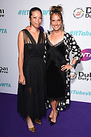 Hsieh Su-wei and Barbora Strycova<br /> arriving for the WTA Summer Party 2019 at the Jumeirah Carlton Tower Hotel, London<br /> <br /> ©Ash Knotek  D3512  28/06/2019