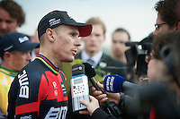 many post-race interviews for Philippe Gilbert (BEL/BMC) <br /> <br /> Amstel Gold Race 2014