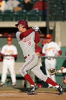 Lonnie Kauppila of the Stanford Cardinal bats against the USC Trojans at Dedeaux Field in Los Angeles,California on April 8, 2011. Photo by Larry Goren/Four Seam Images