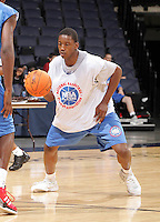 WF Milton Jennings (Summerville, SC / Pinewood Prep) moves the ball during the NBA Top 100 Camp held Friday June 22, 2007 at the John Paul Jones arena in Charlottesville, Va. (Photo/Andrew Shurtleff)