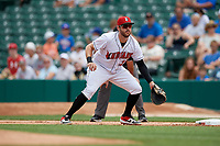 Indianapolis Indians first baseman Will Craig (25) during an International League game against the Syracuse Mets on July 17, 2019 at Victory Field in Indianapolis, Indiana.  Syracuse defeated Indianapolis 15-5  (Mike Janes/Four Seam Images)